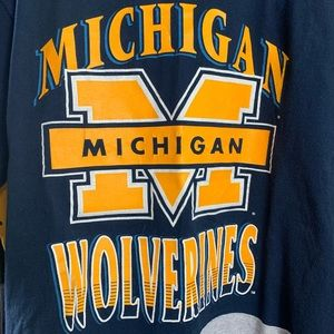 Vintage 90s Michigan Wolverines Tee T Shirt